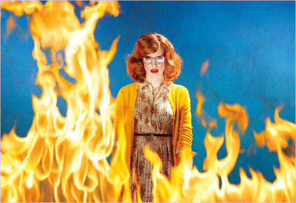 Jessica Chastain as the Fire Starter