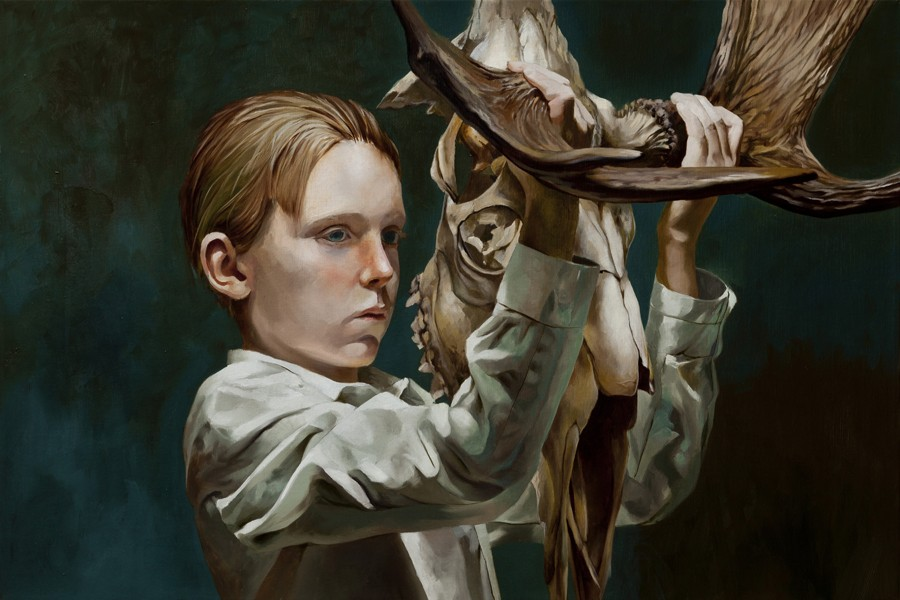 Markus Åkesson-The Mask (Boy with moose skull), 2015