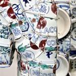 LI Xiaofeng, LACOSTE Porcelain Polo, 2010 closeup